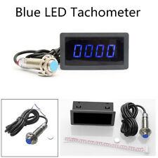 4 Digital Blue LED Tachometer+Pulse Signal NPN Hall Proximity Switch Sensor Kit