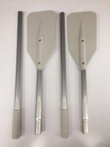 Pair of Two Part Seago Aluminium Oars 145cm Boat Rowing Kayak Dinghies PU2