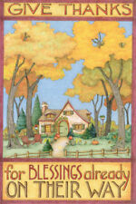 Give Thanks Blessings-Handcrafted Thanksgiving Magnet-w/Mary Engelbreit art