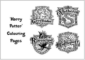 HARRY POTTER Colouring Pages - 20 Sheets - Perfect for Rainy Days & Holidays!