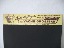 Ardoise Publicitaire Ancienne LA VACHE GROSJEAN CREME DE GRUYERE - Bistrot