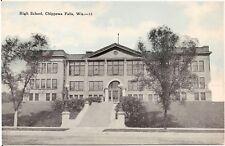 High School in Chippewa Falls WI Postcard