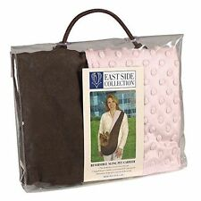 East Side Collection Polyester Reversible Sling Pet Dog Carrier Brown/Pink