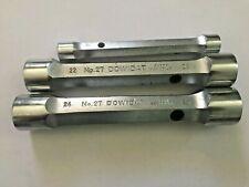 Dowidat No26 No27 Metric T handle Tube Socket set of 3 chrome vanadium Germany