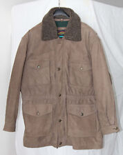Men vintage Pioneer Wear genuine Suede Leather Coat (Size Large)- Price Reduced!