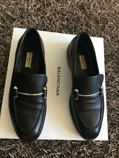 Balenciaga Black Goat Leather Italy Loafer Shoes Womens EU 39/ US 8-8.5 MP $795