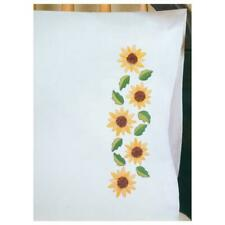 TOBIN Premium Pillow Cases 2pk for Stamped Embroidery SUNFLOWERS