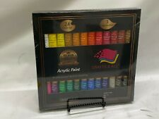 Crafts 4 All Acrylic Paint Set 24 x 12 ml (24 Colors Set, 3 Free Brushes) - NEW