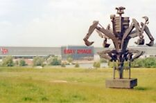 PHOTO  STAFFORDSHIRE 1988 EXCAVATORS MADE INTO A 'SCULPTURE' OUTSIDE JCB (BAMFOR