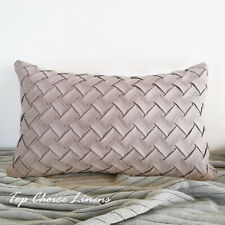30cm x 50cm Home Sofa Decor Suede Like Chevon Cushion Cover- Grey