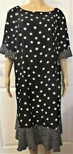 Talbots dress black with white -size 22 W
