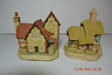 Two David Winter British Collection Cottages Staffordshire Vicarage & Blossom