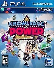 KNOWLEDGE IS POWER FOR PS4 PLAYSTATION 4 BRAND NEW IN WRAPPER NO RESERVE