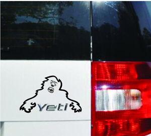 Skoda Yeti Angry Monster Custom Vinyl Sticker Decal, Car Decal, Bumper Sticker