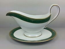 SPODE CHARDONNAY Y8597 GRAVY / SAUCE BOAT AND STAND (PERFECT)