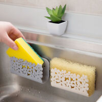 Double Suction Cup Sink Sponge Soap Holder Kitchen Bathroom Drain Storage Rack