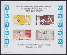 Bund Sporthilfe Entwurf Block Fechten **, postfrisch, MNH