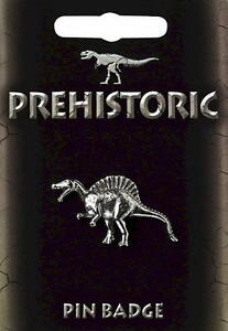 Spinosaurus Pin Badge  -  Pewter Dinosaur Gift