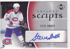 2006 06-07 Upper Deck Trilogy Scripts #TSSS Steve Shutt autograph Canadiens