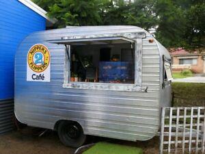 Super cute retro coffee van
