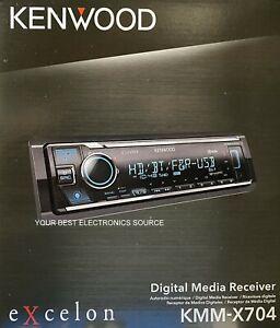 NEW Kenwood KMM-X704 Digital Media Receiver with HD Radio & Bluetooth