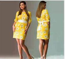LADIES FLORAL DRESS (JLH) - YELLOW