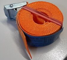 Zurrgurt mit Klemmschloss 25mm breit L= 4 mtr. 250daN einteilig orange Qualität