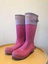 Hunter Wellies-Botas De Lluvia-Edición Limitada-Talla 3 UK-36 EU-Rosa/Púrpura-Usado Con