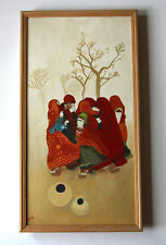 "Oil Painting Steve McCurray ""Women Rajasthan Dust Storm"" Anju Singh Middle East"