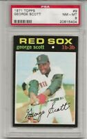 1971 TOPPS # 9 GEORGE SCOTT, PSA 8 NM-MT, BOSTON RED SOX, TOUGH, CENTERED, L@@K