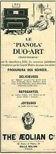 Publicité ancienne musique le Pianola Duo- Art  1925