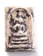 Rare 'Pra Somdej Lang Lai Sen' white clay Buddhist Amulet for Good Fortune