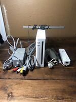 Nintendo Wii Gaming Console Sensor +Cords Gamecube Compatible White RVL-001(USA)