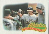 Oakland Athletics Leaders Topps Baseball Card 1989 #639 McGwire Weiss