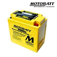 Motobatt MBTX12U Gel Motorcycle Battery Replacement for YTX14-BS