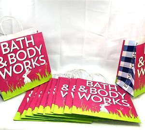 """Bath & Body Works Easter 2020 Shopping Gift Bags 13 bags 10x5x10"""""""