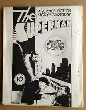 THE GOLDEN AGE FANZINE # 2 - RARE SIEGEL & SHUSTER 1928 SUPERMAN  REAR COVER