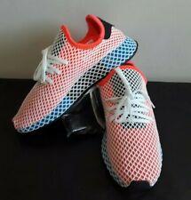 Adidas Mens Size 9 Originals Deerupt Runner Solar Red Blue Bird White CQ2624