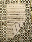 Vintage Moroccan wedding blanket Hanbal H7 Berber bed cover 6ft 7x3ft 10