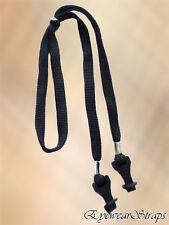 Nuevas Gafas/Gafas De Sol Correa Ajustable Negro Cable Titular De Cuello