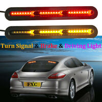 Autos Car Truck DRL LED Light Bar Brake Flowing Turn Signal Stop Rear Tail Strip