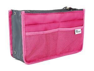 Periea UK Chelsy Handbag Organiser Insert - Bright Pink, Small, Medium or Large