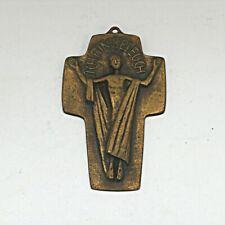 Sammlungsauflösung religiöse Volkskunst hochwertiges Kreuz Wandkreuz Bronze (10)