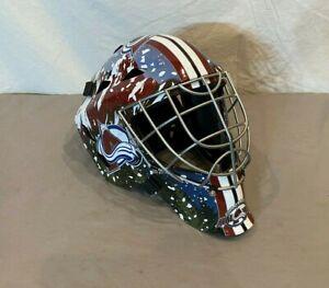 Franklin GFM 1500 Colorado Avalanche Street Hockey Goalie Helmet EXCELLENT