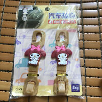 2pcs/set Cute My Melody Car Seat Back Hanger Hook Purse Bag 3.0kg