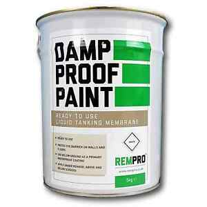 Rempro 5kg White Damp Proof Membrane Paint - DPM Water Proofing Walls & Floors