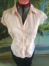 H&M Women's Cotton Blend Fitted Tops & Shirts