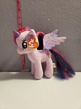 """Ty My Little Pony Twilight Sparkle 7.5"""" Plush Purple Unicorn Beanie Babies Toy"""