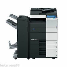 Konica Minolta Bizhub C454 Photocopier Printer Copy & Scan with Booklet Finisher