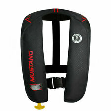 Mustang Survival MIT 100 Inflatable Manual PFD Black Red MD2014 02 Boating Vest
